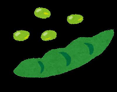 枝豆のイラスト(野菜)