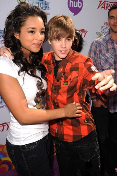 Justin Bieber  amp  Jessica JarrellJustin Bieber And Jessica Jarrell Kissing