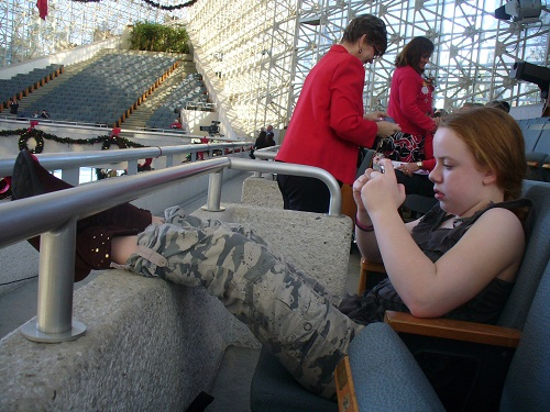 First row balcony seats Crystal Cathedral