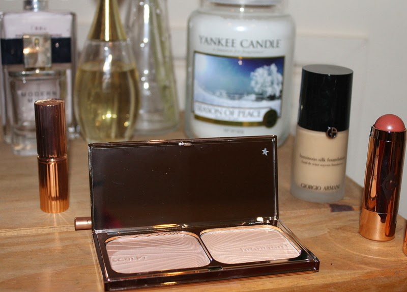 charlotte tilbury filmstar bronze and glow lipstick and armani foundation beauty blogger review