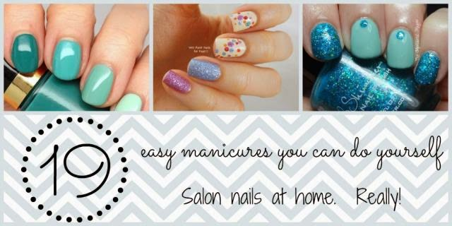 19 easy nail art tutorials salon nails at home everything pretty glitter nails these cute nails are easy to do with plain polish and glitter in the same shade i like the extra dot of glitter on the solid nails solutioingenieria Image collections
