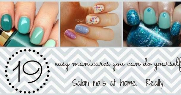 19 easy nail art tutorials salon nails at home everything pretty - Easy cute nail designs at home ...
