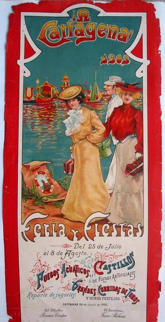 Cartel de Fiesta y Feria 1902