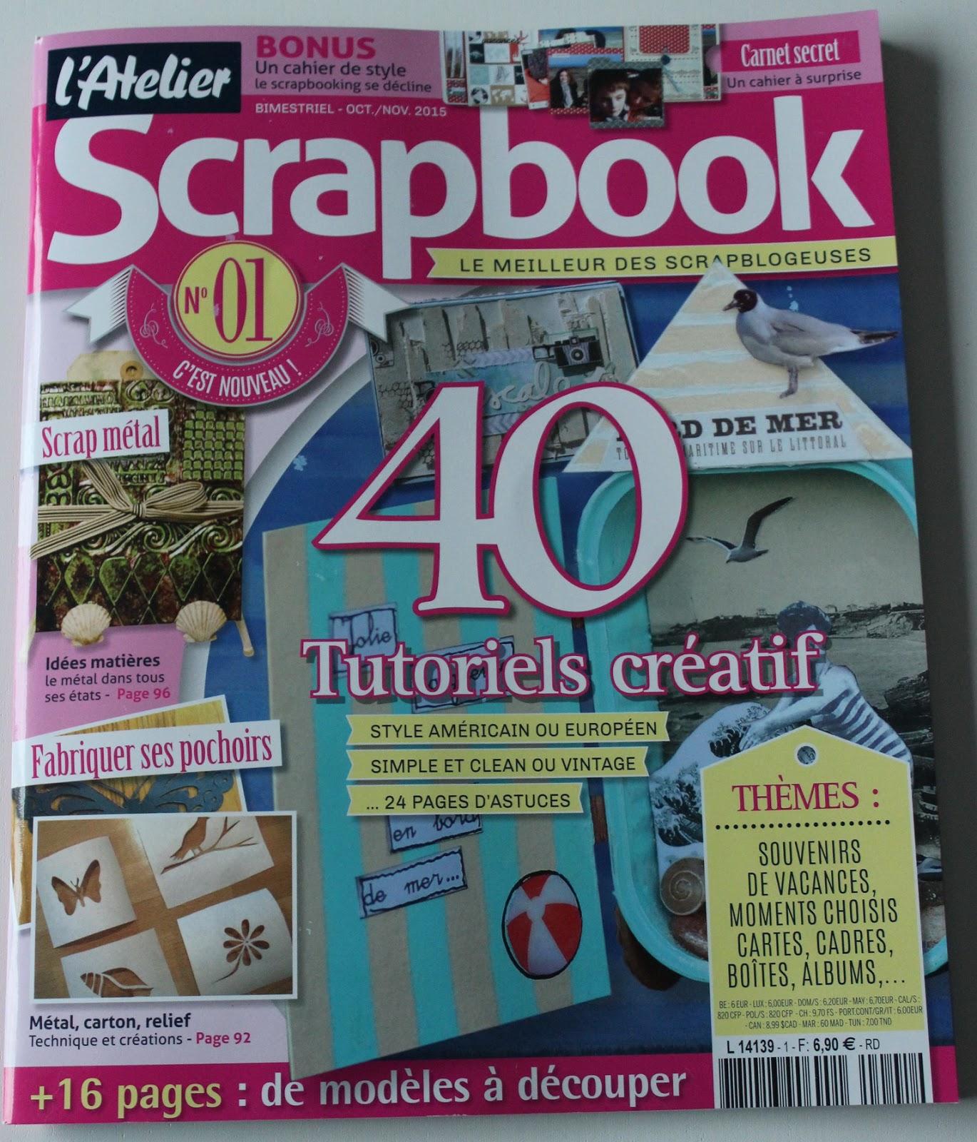 How to scrapbook magazines -  Dans Le Nouveau Magazine L Atelier Scrapbook Qui Visiblement N A Pas R Ussi Se D Cider Sur Mon Pr Nom Un Coup S Verine Un Coup Sandrine Hum