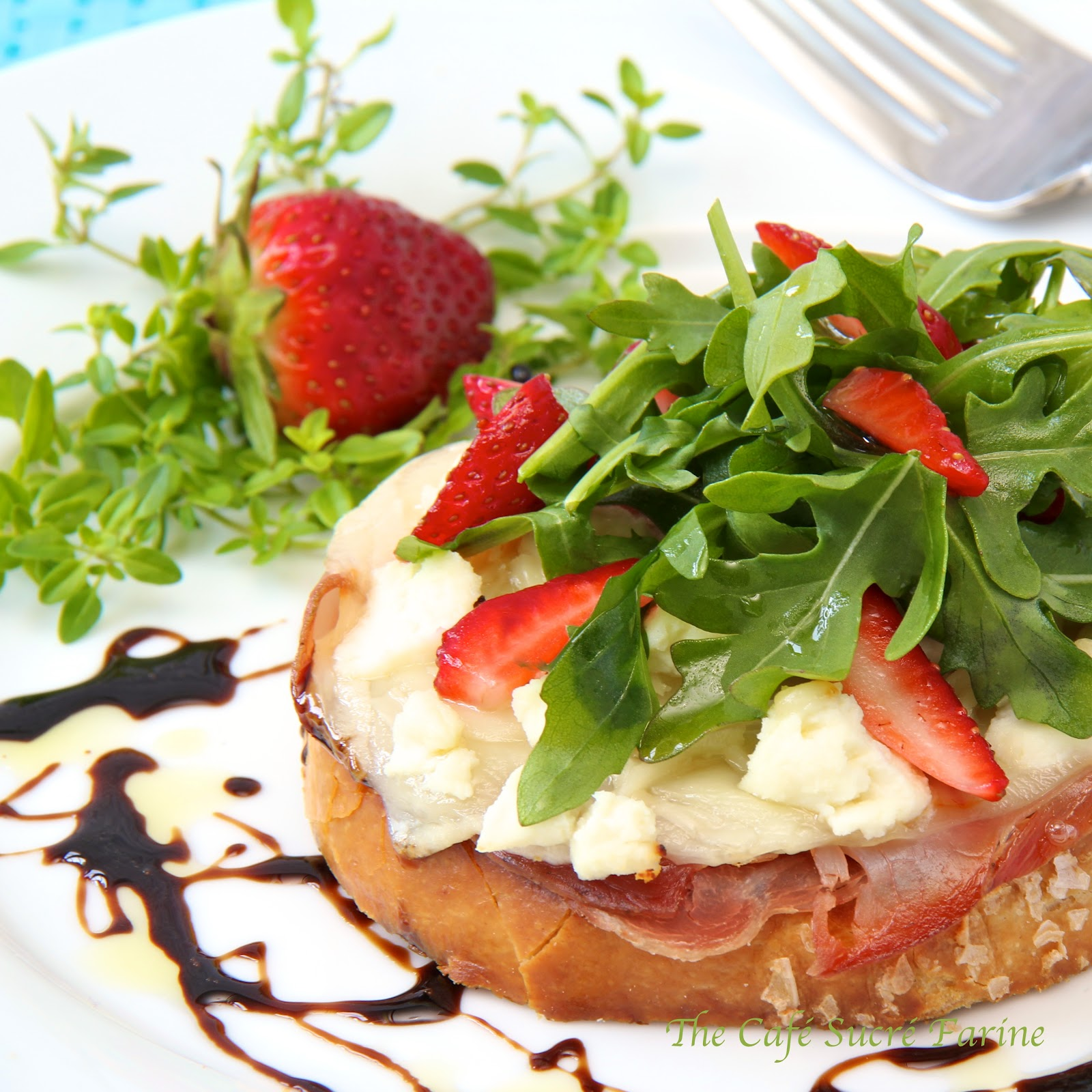 Baked Parmesan French Toast With Tapenade And Arugula ...