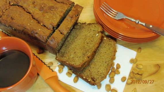 Peantu Butter Banana Bread Recipe