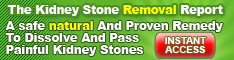 The Kidney Stone Removal Report