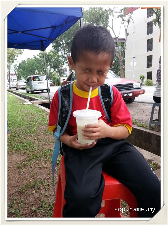 Adakah begini muka anak anda ketika minum susu?