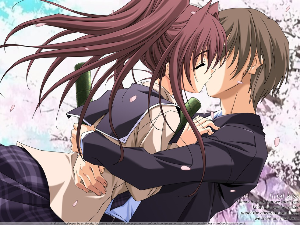 Anime Couple, Anime Love Couple Kiss Wallpapers & Pictures