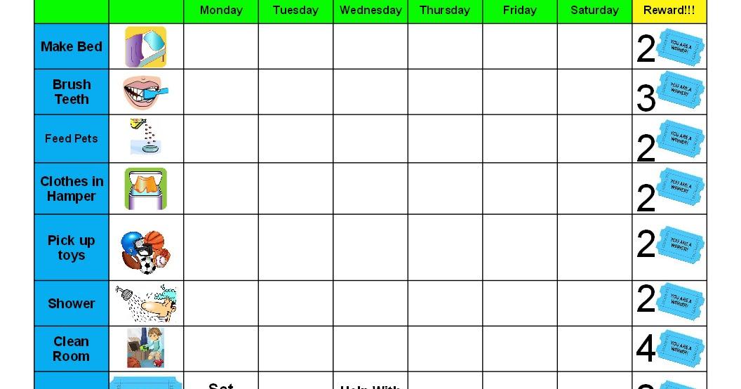 how to make a rotating chore chart