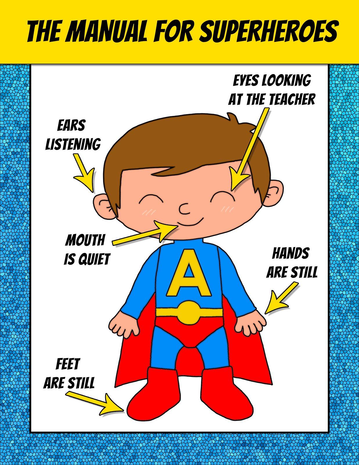 Spanish teacher from spain superhero classroom posters free - Poster super heros ...