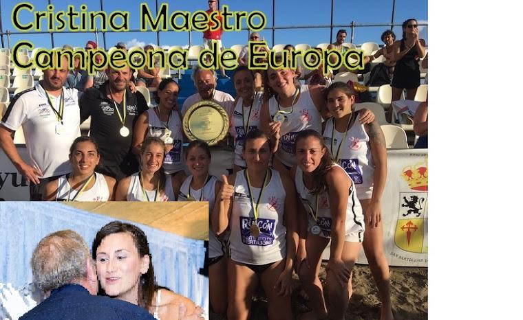 CRISTINA MAESTRO, CAMPEONA DE EUROPA
