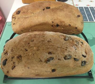 Pão de Canela com Passas e Castanhas