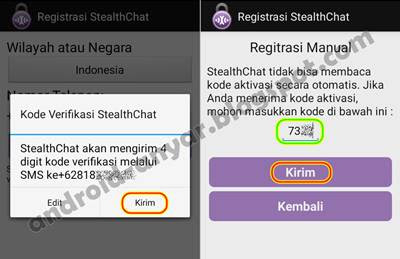 Verifikasi SMS StealthChat
