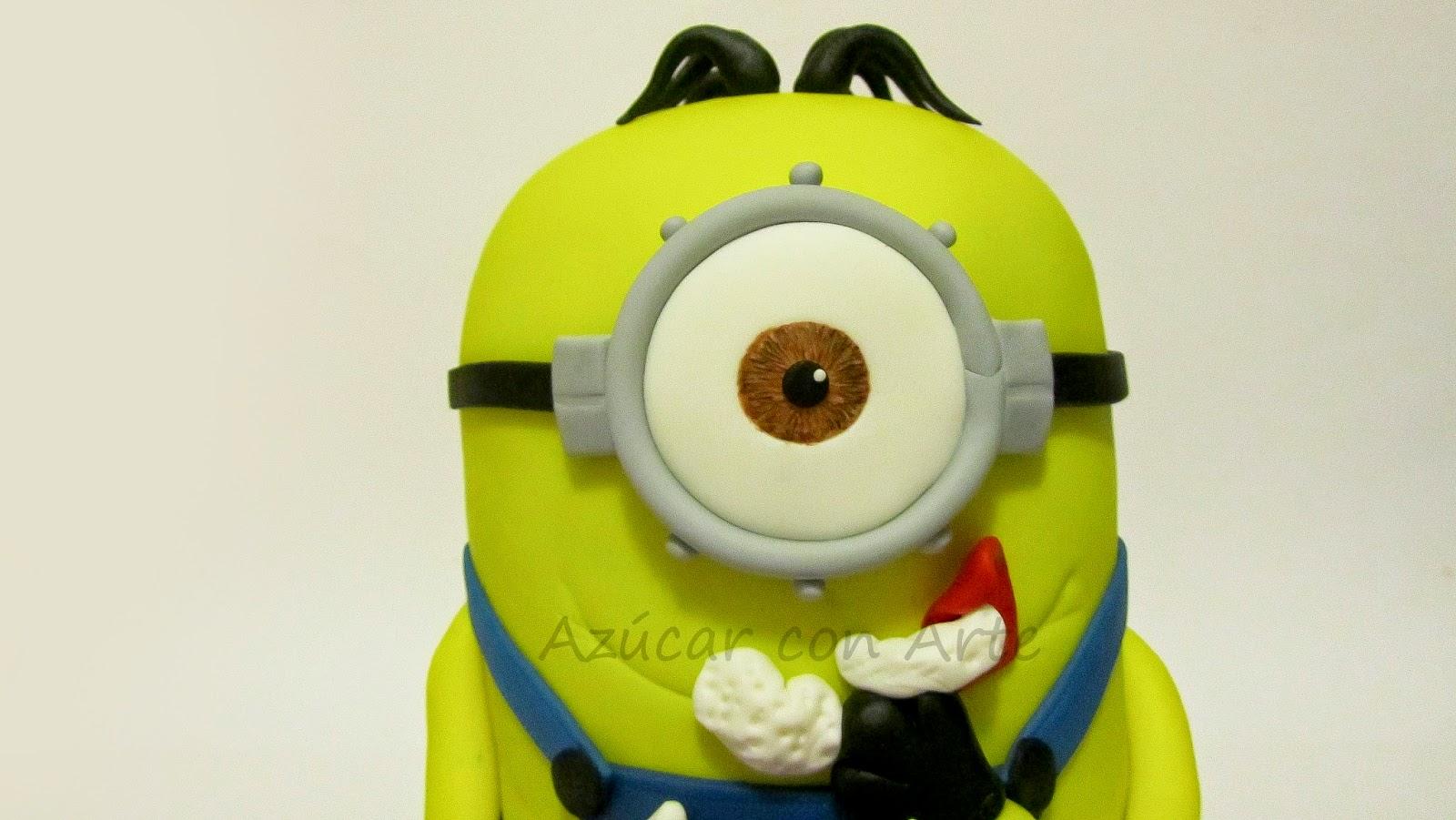 minion cake, tarta minion, gluten free cake, tarta sin gluten| azucar con arte