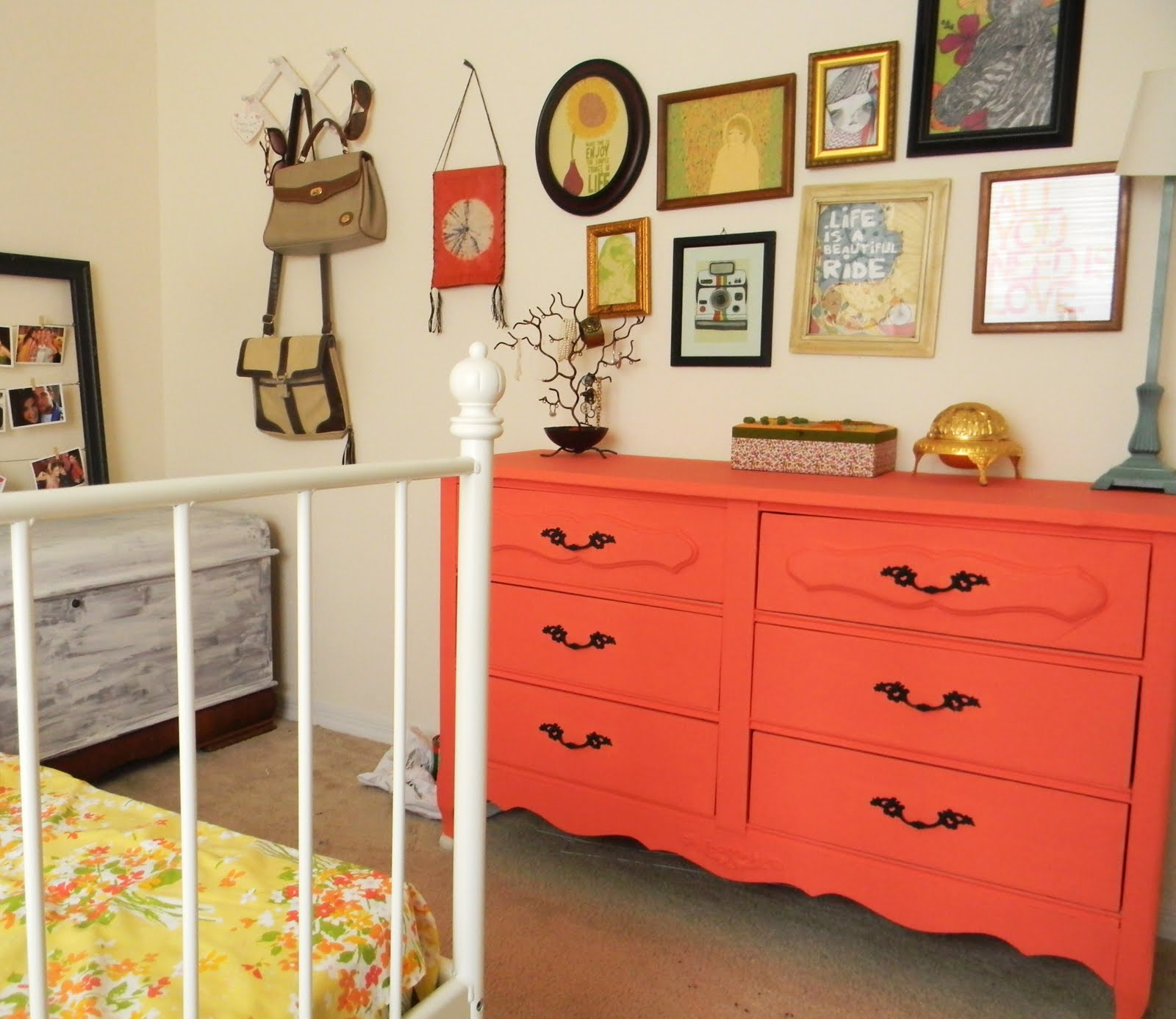 Coral Painted Rooms Pretty Simple Things Coral Dresser