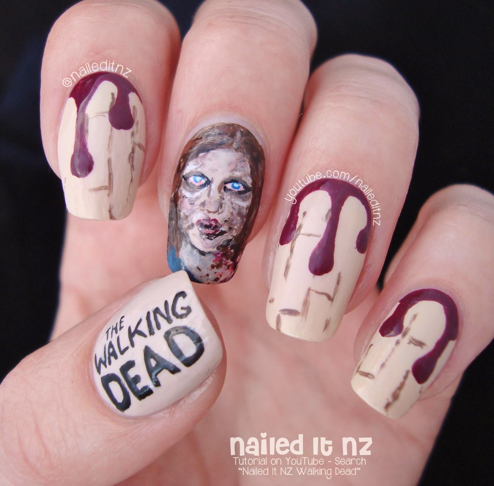 The Walking Dead Nail Art Zombie Sophia