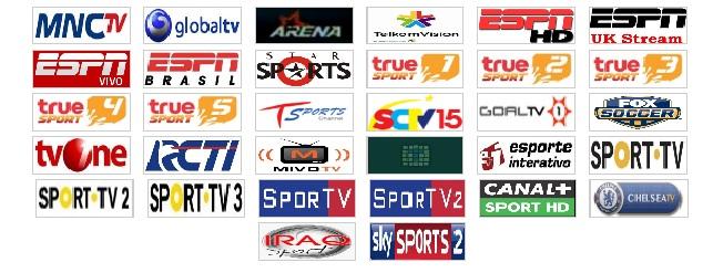 Siaran TV Online Berita dan Hiburan yang terdiri dari 30 siaran