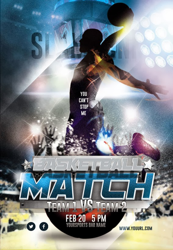Basketball Match Night Flyer Design