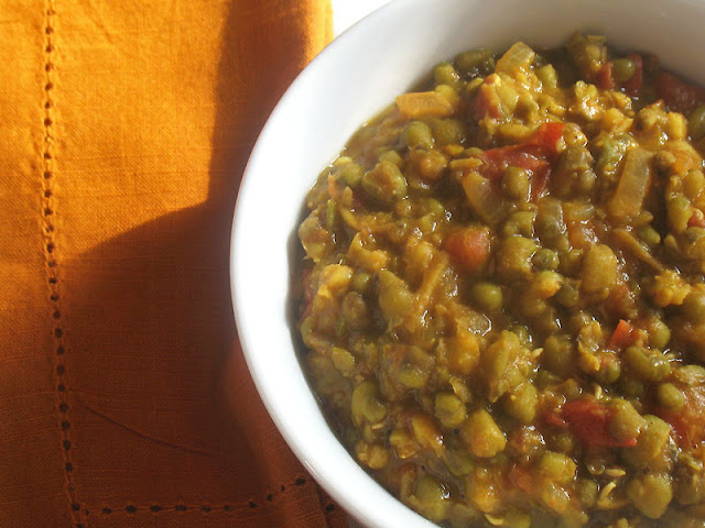 gingered mung beans