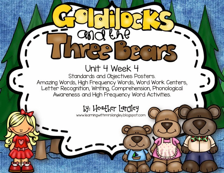 https://www.teacherspayteachers.com/Product/Goldilocks-and-the-Three-Bears-KINDERGARTEN-Unit-4-Week-4-1606193