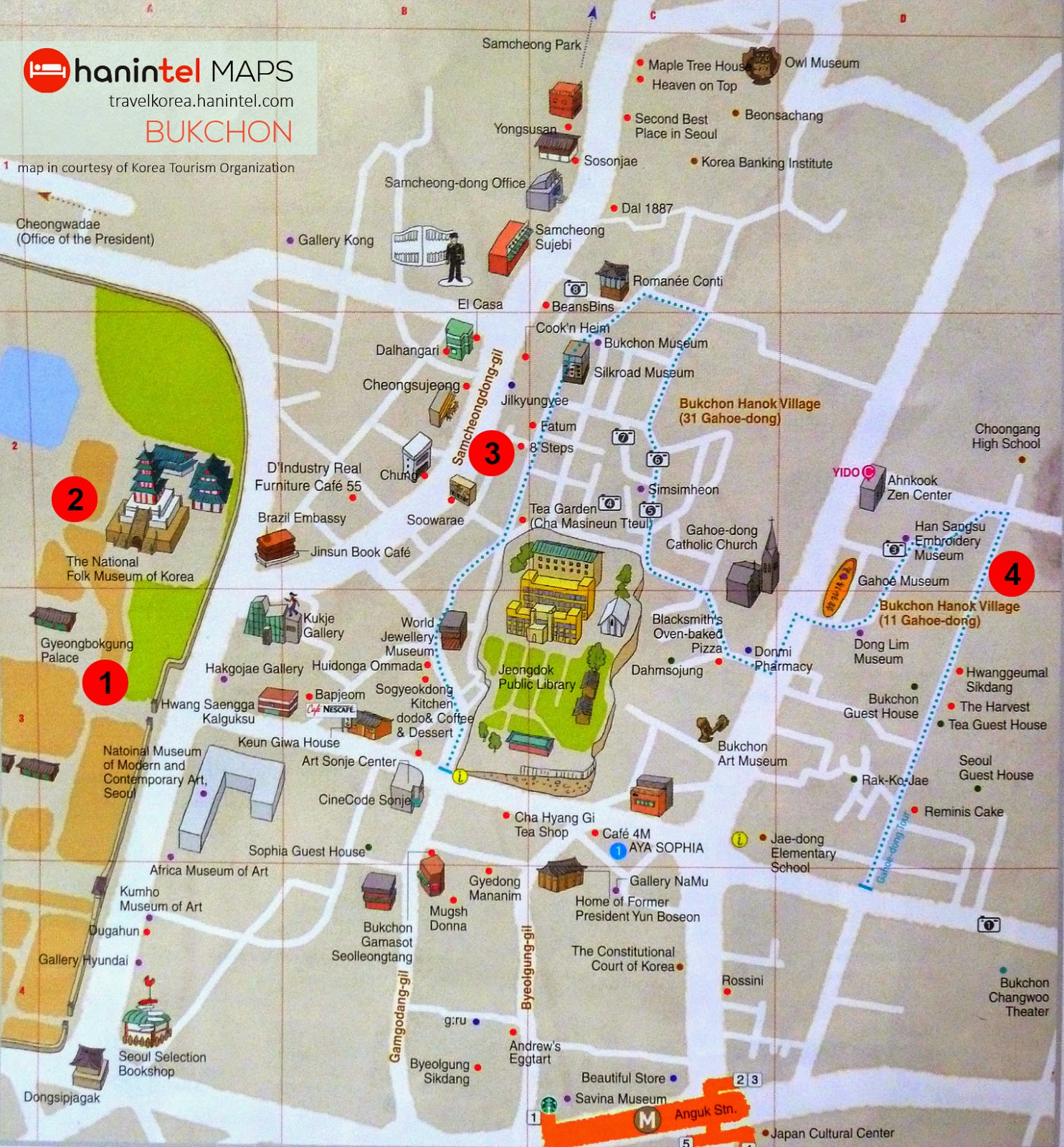 Lets see the world – Seoul Tourist Attractions Map