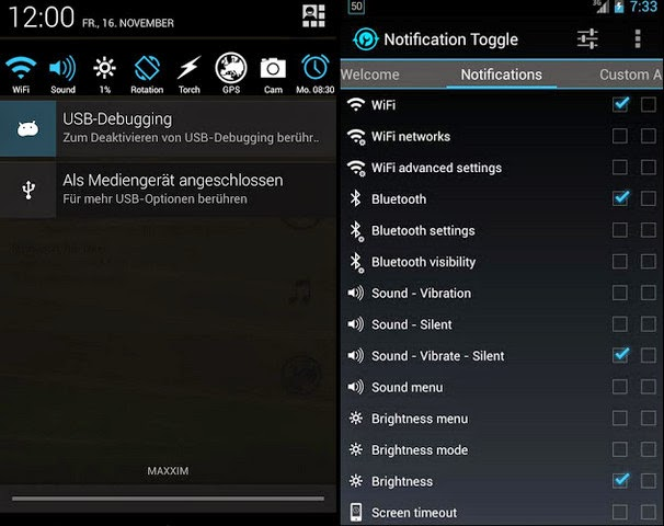 Notification Toggle Premium screenshot1