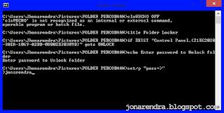 Cara Menyembunyikan Folder Menggunakan Notepad jonarendra