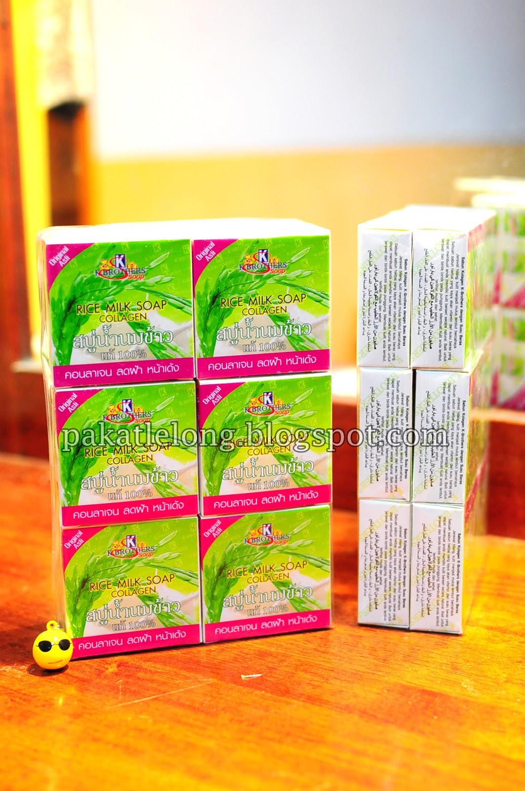 Pakat Lelong Sabun Susu Beras Collagen