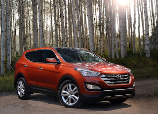 2013 Hyundai Santa Fe Sport orange