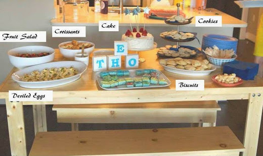 lovely ache simple afternoon baby shower menu