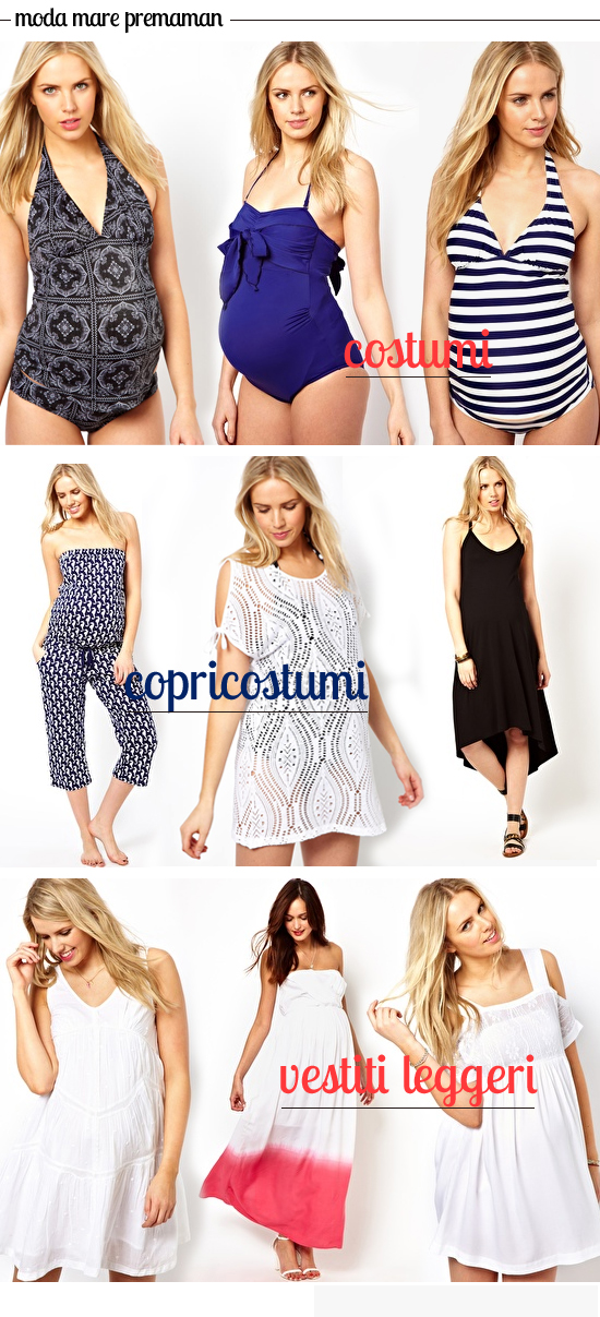 ... la cicogna: Costumi premaman e moda mare in gravidanza - estate 2013