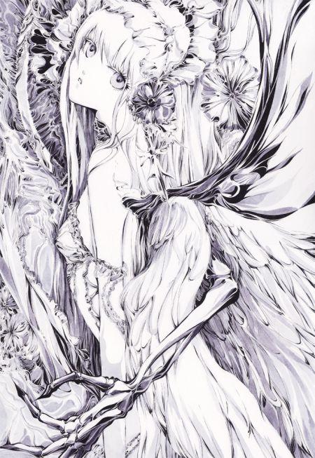 Charmal ilustrações mulheres garotas estilo anime mangá Feito à mão