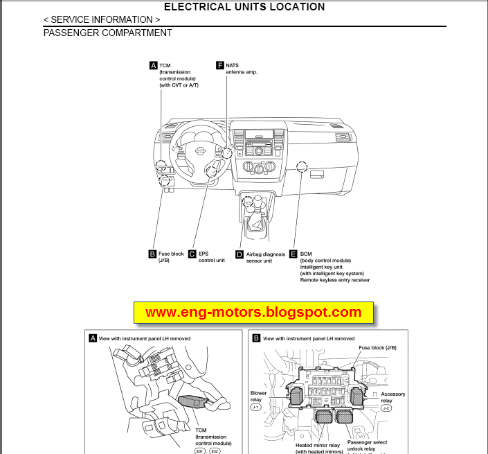 Nissan versa tiida service manual spare parts