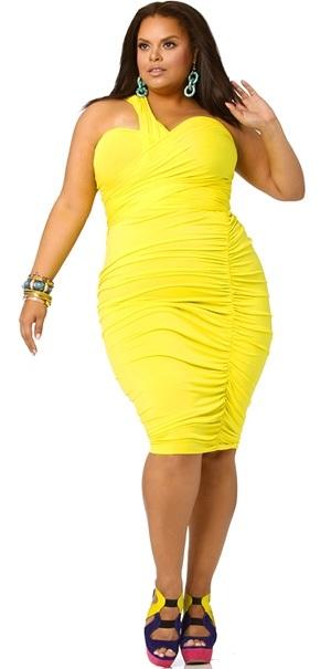 Imagenes de vestidos amarillos para gorditas