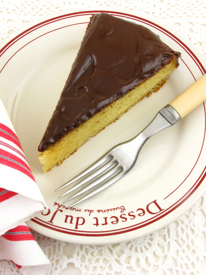 Life's a feast: YOGURT CAKE WITH CHOCOLATE GANACHE FROSTING