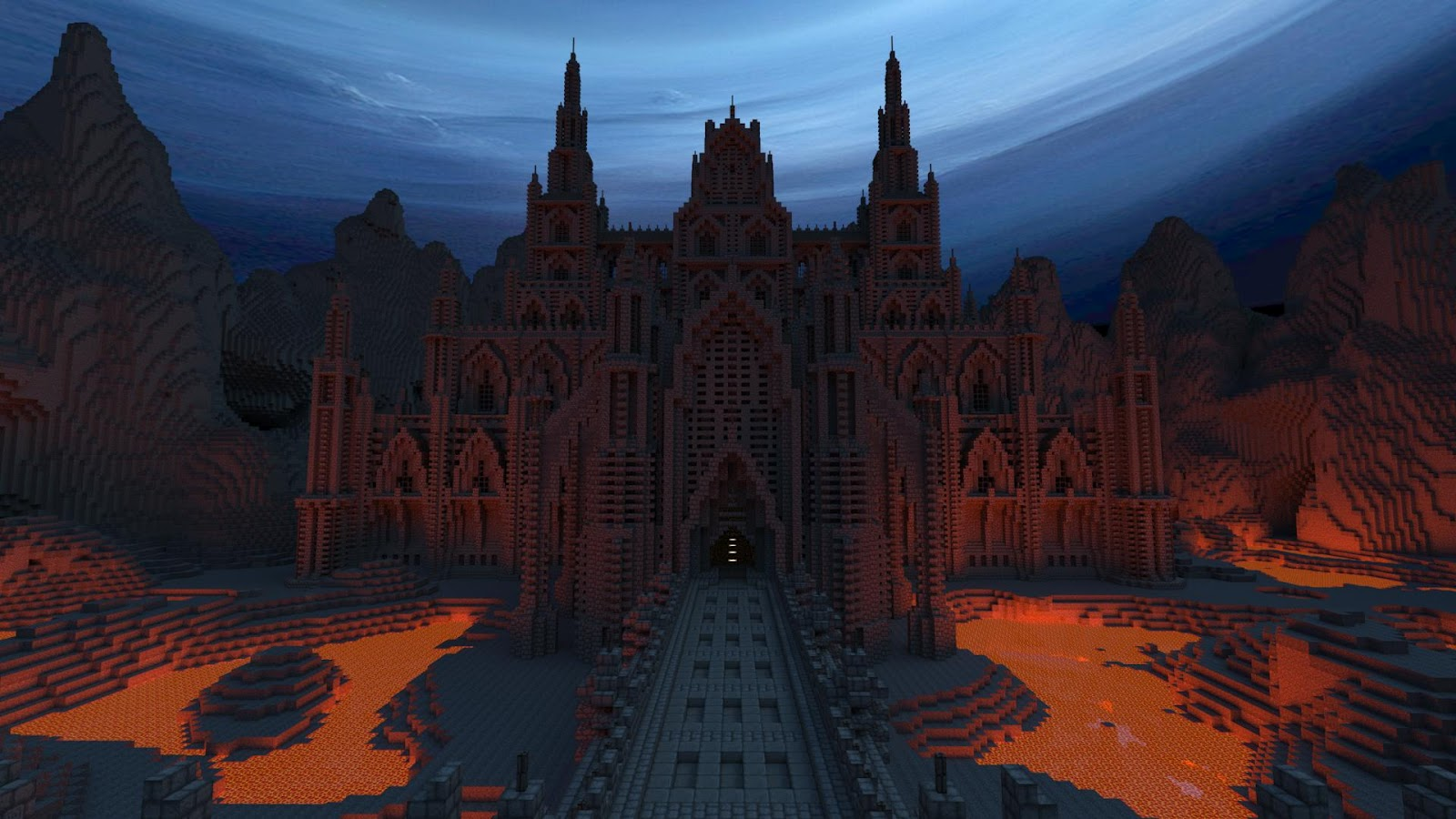 Dark Gothic Minecraft Castle