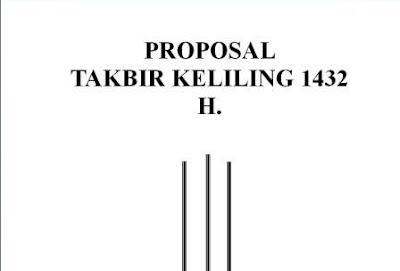 proposal bantuan pawai malam takbiran 2011
