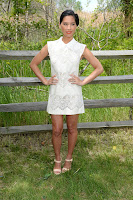 Olivia Munn strikes a pose in a short dress