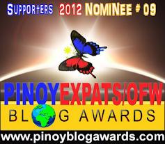 2012-Phillipine Expat Blog Awards (PEBA) - Ikalawang Karangalan