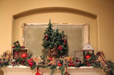 Woodland Christmas mantel and decorations