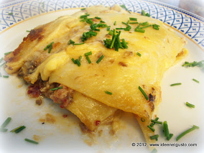 lasagne con funghi e speck , lasagne con funghi ricetta