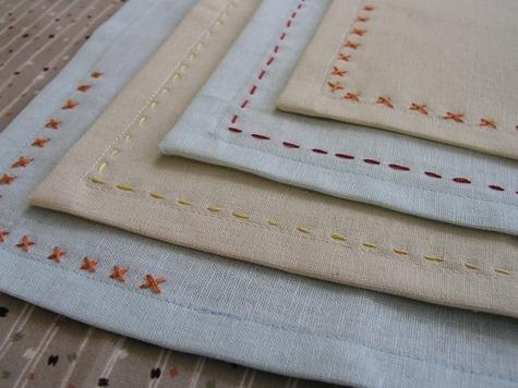 como hacer servilletas de tela