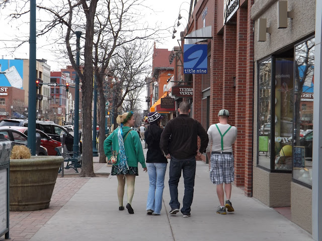 St. Patrick's Day in Colorado Springs.Amerikanskaya family with Russian roots