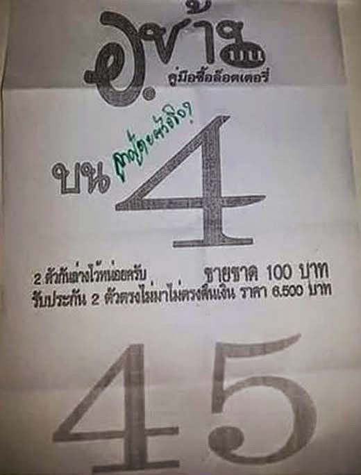 Thailand Lottery Tip 001 123 Sure Winning Results 1st, 2nd and Last ...