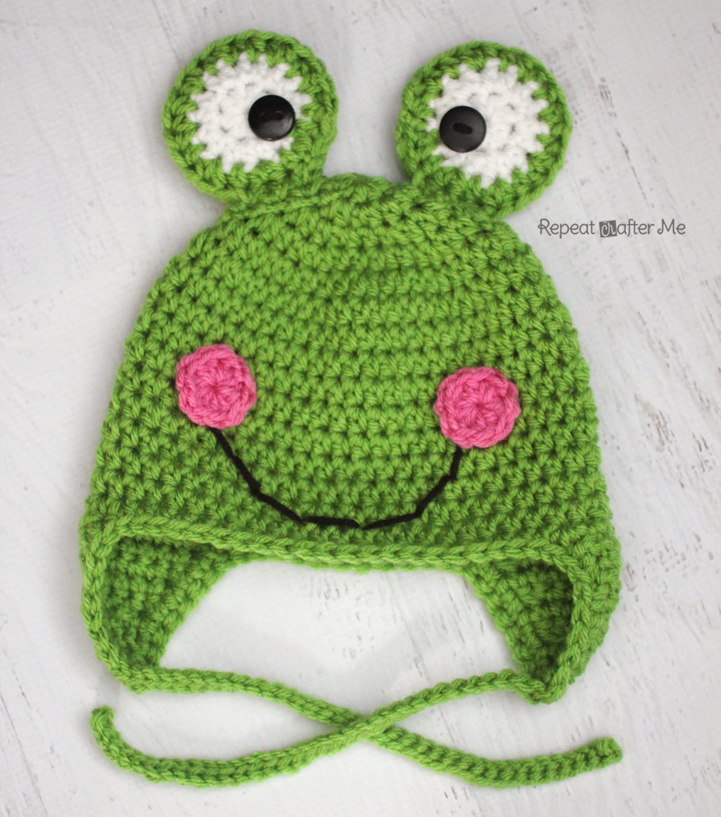 Free Crochet Pattern Newborn Frog Hat : Repeat Crafter Me: Crochet Frog Hat Pattern
