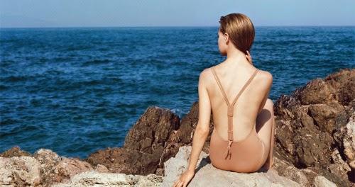 tendance maillot de bain eres 2014 une pièce couleur marron beige
