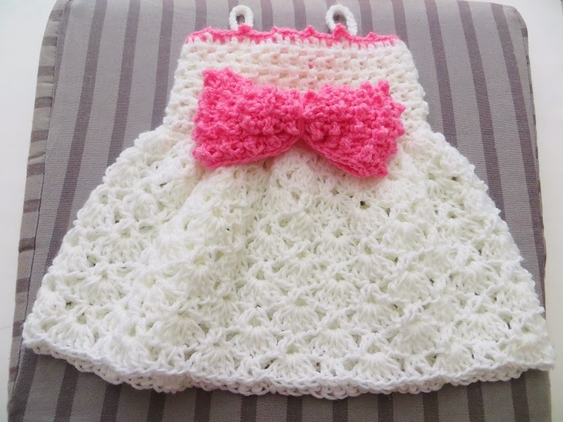 The Little Bow Peep Dress Crochet Baby Dress Pattern Sizes Newborn