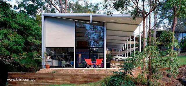Residencia australiana contemporánea de marcos de metal