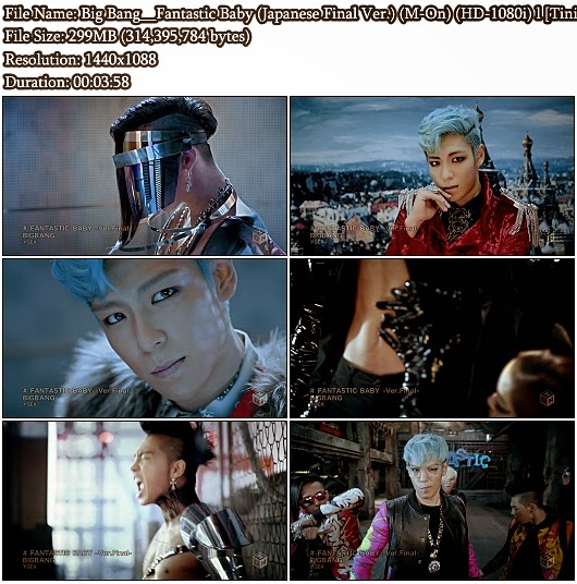 Download PV Big Bang - Fantastic Baby (Japanese Final Ver.) (M-On Full HD 1080i)